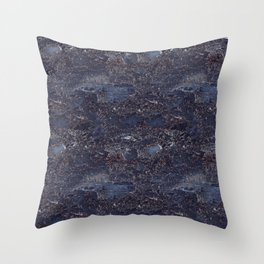 Blue marble pattern Throw Pillow