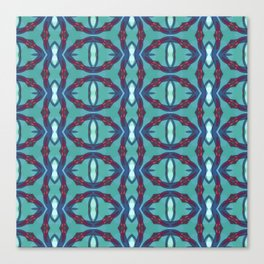 geometric circle pattern Canvas Print