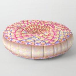 Magic Torus Eye Rangoli Sacred Geometry Floor Pillow