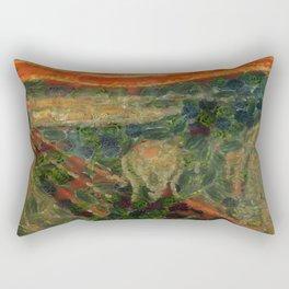 The Avocado Scream After Munch Rectangular Pillow