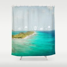 Make Voyages Shower Curtain