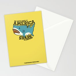 America…   it kinda looks like a shark or something Stationery Cards