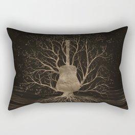 Guitar Music Tree - Gold and Browns Rectangular Pillow