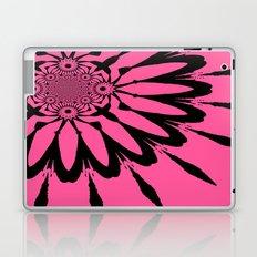 Pink Black Modern Flower Laptop & iPad Skin