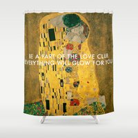 lorde Shower Curtains featuring Love Club Kiss by Lorde Art History