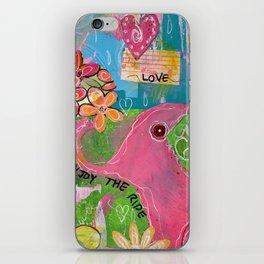 Amazing You Pink Elephant iPhone Skin