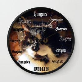 Cat Clock Barley Wall Clock