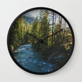Morning at Agnes Creek - Pacific Crest Trail, Washington Wall Clock