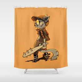 Cat Punk Shower Curtain