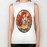 borderlands Biker Tanks featuring Lilith from Borderlands by Jazmine Phillips
