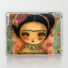 Frida In A Red And Teal Dress Laptop & iPad Skin