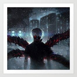 Ken Kaneki Tokyo Ghoul Art Print