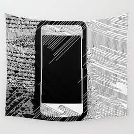 iPhone 5 Wolfram Rule 126 Wall Tapestry