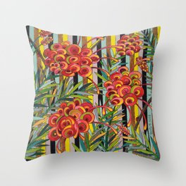 Grevillea Fireworks Throw Pillow
