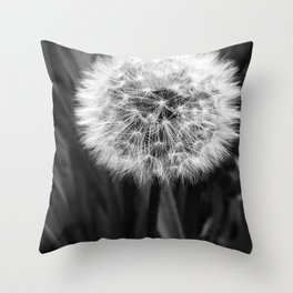 'DANDELION - MAKE WISH' Throw Pillow