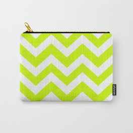 Volt - green color - Zigzag Chevron Pattern Carry-All Pouch