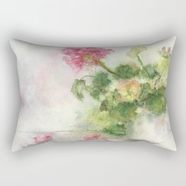 Beaux Geraniums Roses Rectangular Pillow
