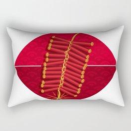 Firecrackers Vietnamese Lunar New Year Phao Tet Holiday Rectangular Pillow