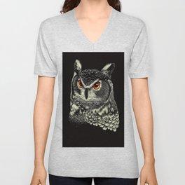 Bright-Eyed Owl Unisex V-Neck