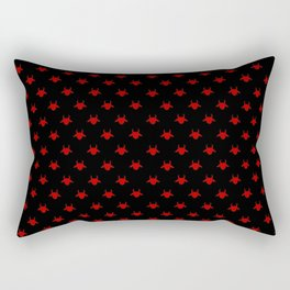 goat patterns black and red 1 Rectangular Pillow