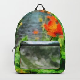 Mountain Flowers by a Lake Backpack
