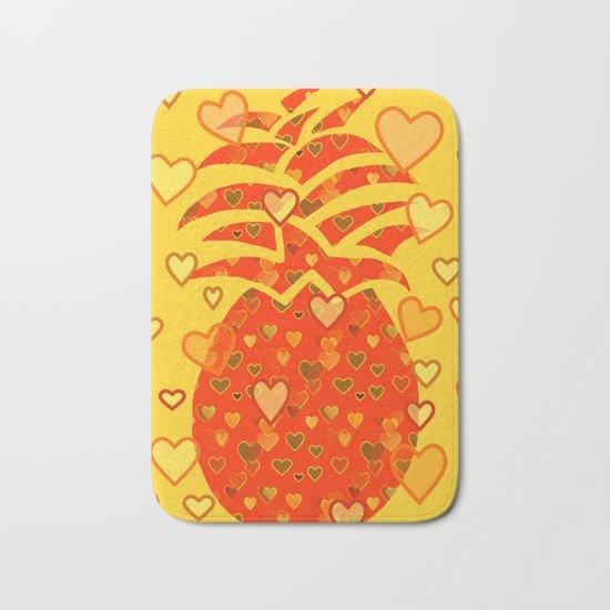 I Love Pineapple Bath Mat