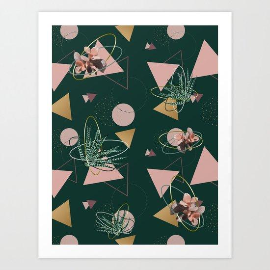 Succulents Atoms #society6 #decor #buyart Art Print