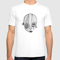 'Face II' MEDIUM Mens Fitted Tee White