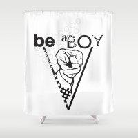 boy Shower Curtains featuring Boy by antonio&marko
