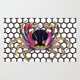 Lucky Crab Auspicious Hexagon Pattern Rug