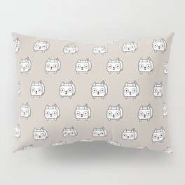 Pitbull Loaf - White Pit Bull with Cropped Ears Pillow Sham