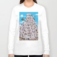 climbing Long Sleeve T-shirts featuring Bubble climbing by Caiocomix