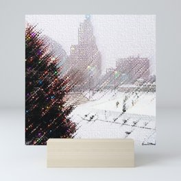 Alex & Ani Skating Center - Providence, Rhode Island Winter Scene Portrait by Jeanpaul Mini Art Print
