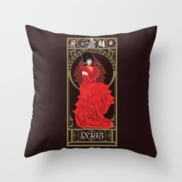 Lydia Nouveau - Beetlejuice Throw Pillow
