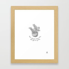 Plant Your Own Garden Framed Art Print