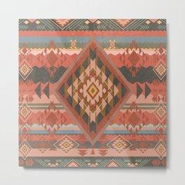 Boho Graphic Moroccan Oriental Modern Pattern Art Design - 2 Metal Print
