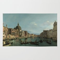 A View of the Grand Canal by Canaletto Rug