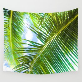 Aloha Lāhainā Palms Maui Hawaii Wall Tapestry