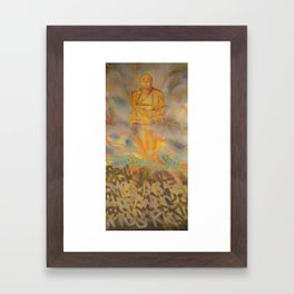 Seated Meditation Framed Art Print