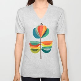 Whimsical Bloom Unisex V-Neck