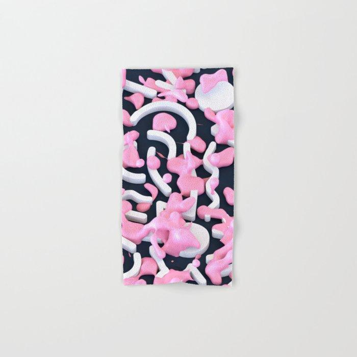 Pink Bubble Pattern Hand & Bath Towel