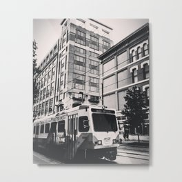 Inner Harbor Trolly Metal Print