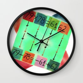 Multiplication Fact with a Numerical Subtraction Relation - Rotational Symmetry of Square Wall Clock