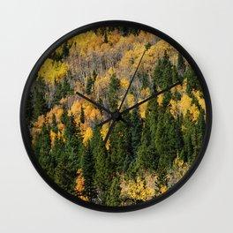 Fall at the Rockies Wall Clock