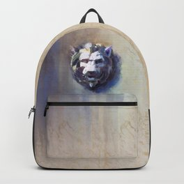 Lion Head White Marble Backpack