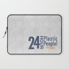 24 Hour Plastic People Laptop Sleeve