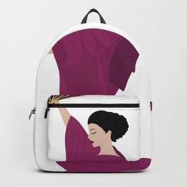 Woman in kimono Backpack