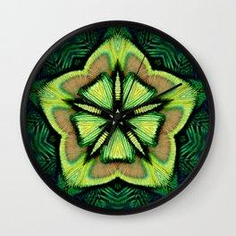 flor de pavo Wall Clock