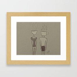 Coffee Heads Framed Art Print
