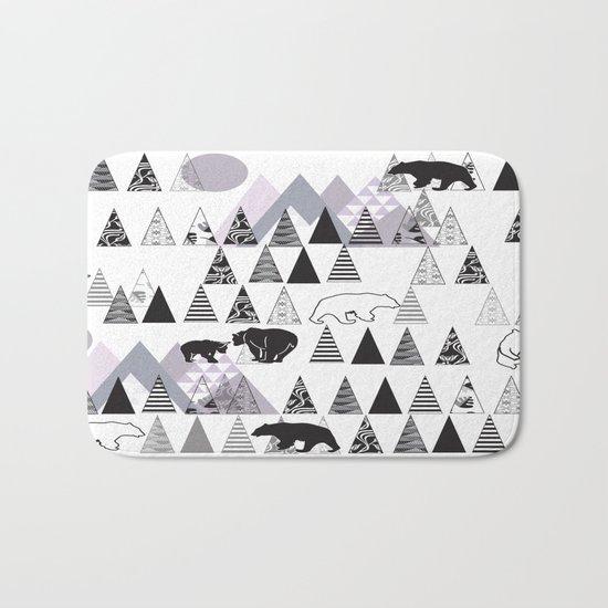 Mountain Bears No. 1 Bath Mat